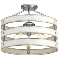 Truly Coastal 30347-GI Camps Bay 3 Light 17 inch Galvanized Semi-Flush Convertible Ceiling Light