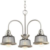 TrulyCoastal 30304-BNI Biarritz 3 Light 20 inch Brushed Nickel Chandelier Ceiling Light