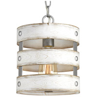 Truly Coastal 31609-GI Camps Bay 1 Light 9 inch Galvanized Mini Pendant Ceiling Light