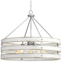 Truly Coastal 30646-GI Camps Bay 5 Light 28 inch Galvanized Pendant Ceiling Light