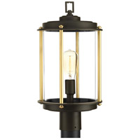 TrulyCoastal 30277-ABCI Atlantis 1 Light 19 inch Architectural Bronze Outdoor Post Lantern