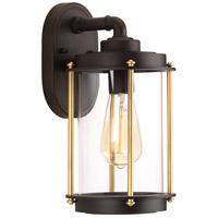 TrulyCoastal 30285-ABCI Atlantis 1 Light 13 inch Architectural Bronze Outdoor Wall Lantern