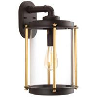 TrulyCoastal 30287-ABCI Atlantis 1 Light 17 inch Architectural Bronze Outdoor Wall Lantern