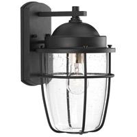 TrulyCoastal 30289-BCSI Flatts 1 Light 14 inch Black Outdoor Wall Lantern