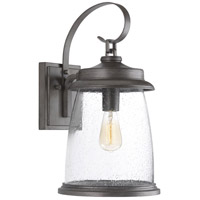 TrulyCoastal 30299-APCS Queenscliff 1 Light 21 inch Antique Pewter Outdoor Wall Lantern Large