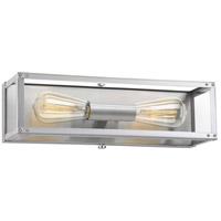 TrulyCoastal 30356-SSCI Islands 2 Light 16 inch Stainless Steel Bath Vanity Wall Light, Design Series