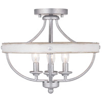 Truly Coastal 30620-GFI Camps Bay 4 Light 15 inch Galvanized Finish Semi-Flush Mount Ceiling Light