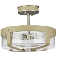 Truly Coastal 31624-ANCS Frenchman Bay 4 Light 14 inch Antique Nickel Semi-Flush Mount Ceiling Light Jeffrey Alan Marks Design Series