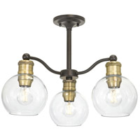 TrulyCoastal 30402-ABCI Matagorda Bay 3 Light 21 inch Antique Bronze Chandelier Ceiling Light Semi-Flush Convertible