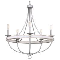 TrulyCoastal 30610-GFI Camps Bay 5 Light 26 inch Galvanized Chandelier Ceiling Light