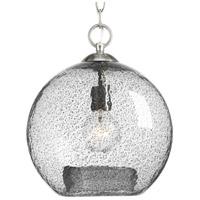 TrulyCoastal 30350-BNCT Burtons Bay 1 Light Brushed Nickel Pendant Ceiling Light Design Series
