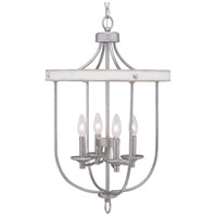 Truly Coastal 30616-GFI Camps Bay 4 Light 17 inch Galvanized Finish Foyer Pendant Ceiling Light