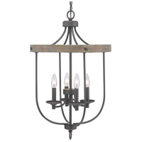 Truly Coastal 30617-GI Camps Bay 4 Light 17 inch Graphite Foyer Pendant Ceiling Light