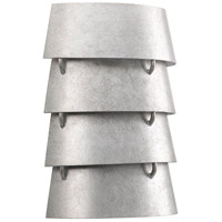 TrulyCoastal 31641-GI Blue Hill 2 Light 9 inch Galvanized ADA Wall Sconce Wall Light Jeffrey Alan Marks Design Series