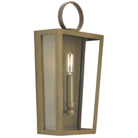 TrulyCoastal 31634-ABCF Oludeniz Beach 1 Light 8 inch Aged Brass ADA Wall Sconce Wall Light Jeffrey Alan Marks Design Series