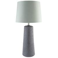 TrulyCoastal 30267-G Maine 28 inch 100 watt Grey Table Lamp Portable Light