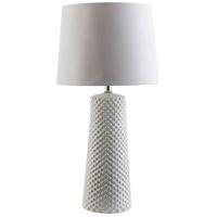 TrulyCoastal 30268-W Maine 28 inch 100 watt White Table Lamp Portable Light