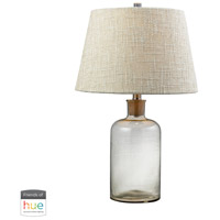 Truly Coastal 30009-CL Onslow Bay 26 inch 60 watt Clear Table Lamp Portable Light in Dimmer Hue LED Philips Friends of Hue