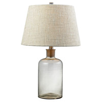 Truly Coastal 30595-CC Onslow Bay 26 inch 100 watt Clear Table Lamp Portable Light in Incandescent 3-Way