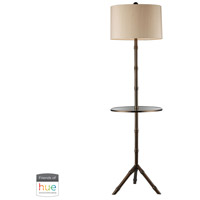 Truly Coastal 30552-DBL Surf 59 inch 60 watt Dunbrook Bronze Floor Lamp Portable Light in Hue LED Bridge Philips Friends of Hue