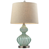 Truly Coastal 30193-LGCG Bethany 25 inch 100 watt Light Green Smoke Table Lamp Portable Light in Incandescent
