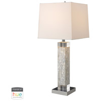 Truly Coastal 30004-MOL Port Fairy 32 inch 60 watt Mother of Pearl Table Lamp Portable Light in Dimmer Hue LED Philips Friends of Hue