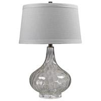 Truly Coastal 30596-CC Beachcast 24 inch 150 watt Clear Table Lamp Portable Light in Incandescent 3-Way
