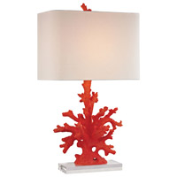 Truly Coastal Red Coral Table Lamps