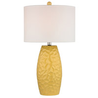Truly Coastal 30157-SY Holtz Bay 27 inch 150 watt Sunshine Yellow Table Lamp Portable Light in Incandescent