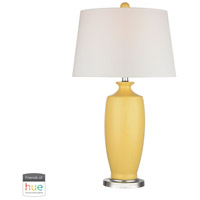 Truly Coastal 30373-SYL Oceanside 27 inch 60 watt Sunshine Yellow Table Lamp Portable Light