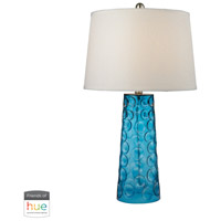 Truly Coastal 30028-BL Treasure Coast 27 inch 60 watt Blue Table Lamp Portable Light in Dimmer Hue LED Philips Friends of Hue