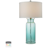 Truly Coastal 30027-SGL Onslow Bay 30 inch 60 watt Seafoam Green Table Lamp Portable Light in Dimmer Hue LED Philips Friends of Hue