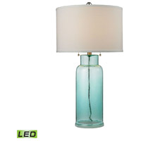 Truly Coastal 30535-SGL Onslow Bay 30 inch 9.5 watt Seafoam Green Table Lamp Portable Light in LED 3-Way