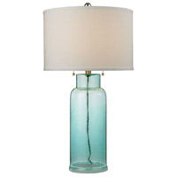 Truly Coastal 30506-SG Onslow Bay 30 inch 150 watt Seafoam Green Table Lamp Portable Light in Incandescent 3-Way