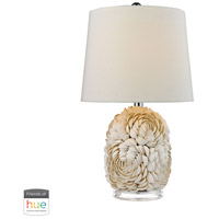Truly Coastal 30034-SL Current 23 inch 60 watt Shell Table Lamp Portable Light in Hue LED Bridge Philips Friends of Hue