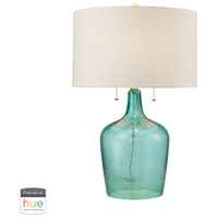 Truly Coastal 30464-SL Plymouth Bay 26 inch 60 watt Seabreeze Table Lamp Portable Light in Hue LED Bridge Philips Friends of Hue