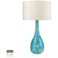 Truly Coastal 30467-SGL Portsmouth 29 inch 60 watt Seafoam Green Table Lamp Portable Light in Dimmer Hue LED Philips Friends of Hue