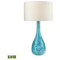 Truly Coastal 30594-SGL Portsmouth 29 inch 9.5 watt Seafoam Green Table Lamp Portable Light in LED 3-Way