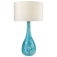 Truly Coastal 30593-SG Portsmouth 29 inch 100 watt Seafoam Green Table Lamp Portable Light in Incandescent 3-Way