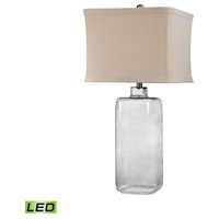 Truly Coastal Hammered Grey Glass 31 inch 9.5 watt Grey Smoke Table Lamp Portable Light in LED