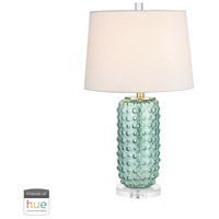 Truly Coastal 30470-GL Caribbean 25 inch 60 watt Green Table Lamp Portable Light in Dimmer Hue LED Philips Friends of Hue