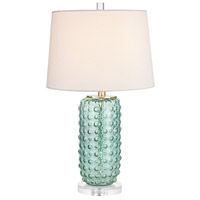 Truly Coastal 30528-G Caribbean 25 inch 100 watt Green Table Lamp Portable Light in Incandescent 3-Way