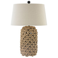 Truly Coastal 30494-NR Inshore 30 inch 150 watt Nature Inshore/Oil Rubbed Bronze Table Lamp Portable Light