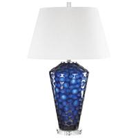 TrulyCoastal 30480-B Moorish Idol 29 inch 150 watt Blue Table Lamp Portable Light
