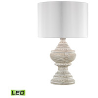 Truly Coastal 30576-AWL Emerald Coast 25 inch 9.5 watt Antique White Outdoor Table Lamp in LED