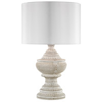 Truly Coastal 30571-AW Emerald Coast 25 inch 100 watt Antique White Outdoor Table Lamp in Incandescent