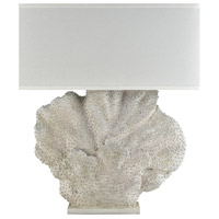 Truly Coastal 30570-AW Todos Santos 46 inch 100 watt Aged White/Coral Outdoor Table Lamp Oversized