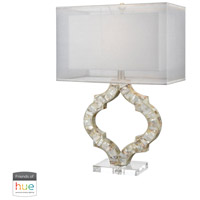 Truly Coastal 30031-NML East Bay 26 inch 60 watt Natural Mother of Pearl Table Lamp Portable Light in Hue LED Bridge Philips Friends of Hue