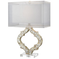 Truly Coastal 30508-NM East Bay 26 inch 100 watt Natural Mother Of Pearl Table Lamp Portable Light in Incandescent 3-Way