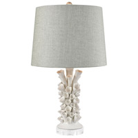 Truly Coastal 30236-MW Willapa Bay 25 inch Matte White Table Lamp Portable Light